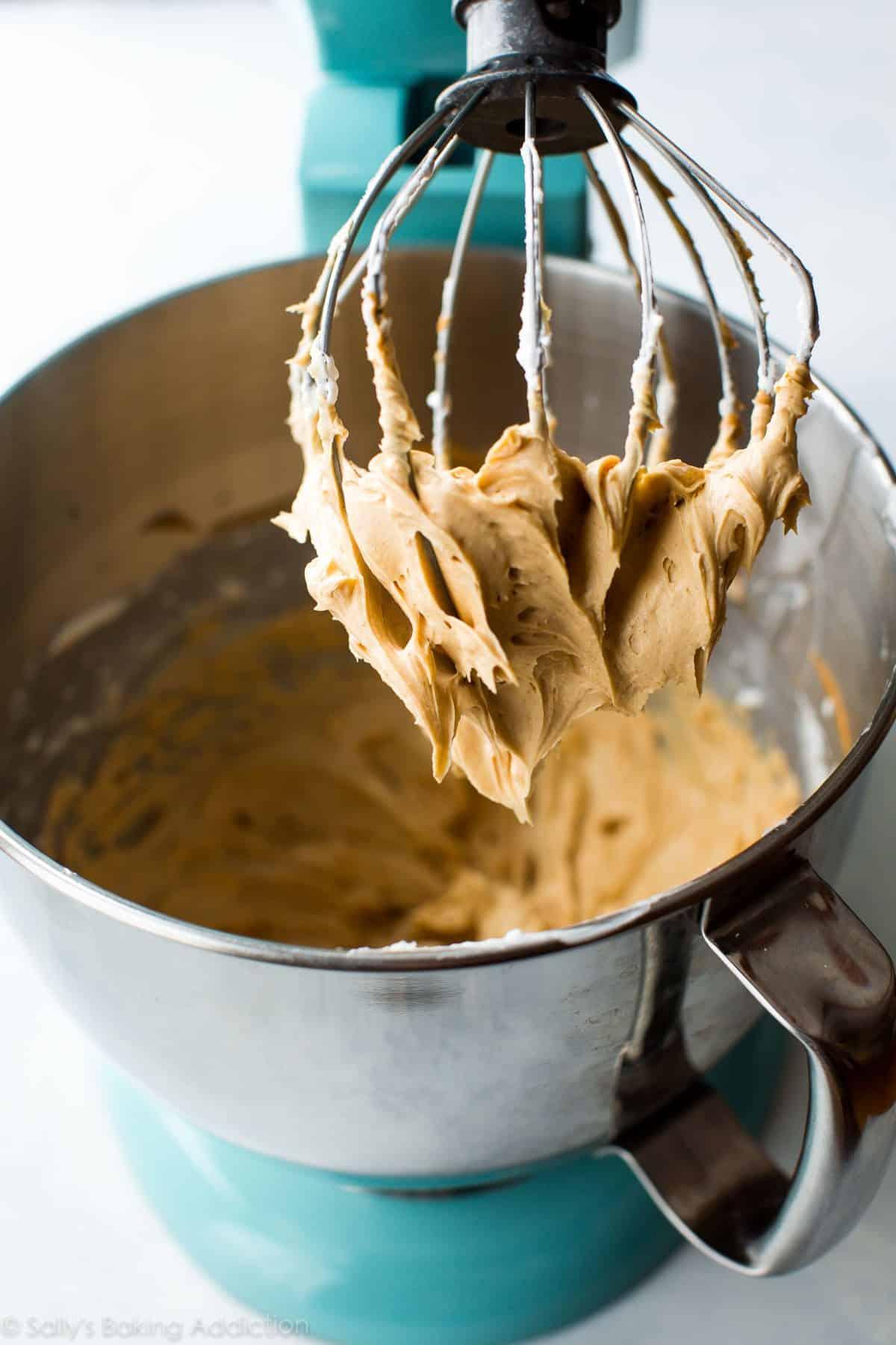Peanut butter hi-hat frosting on sallysbakingaddiction.com