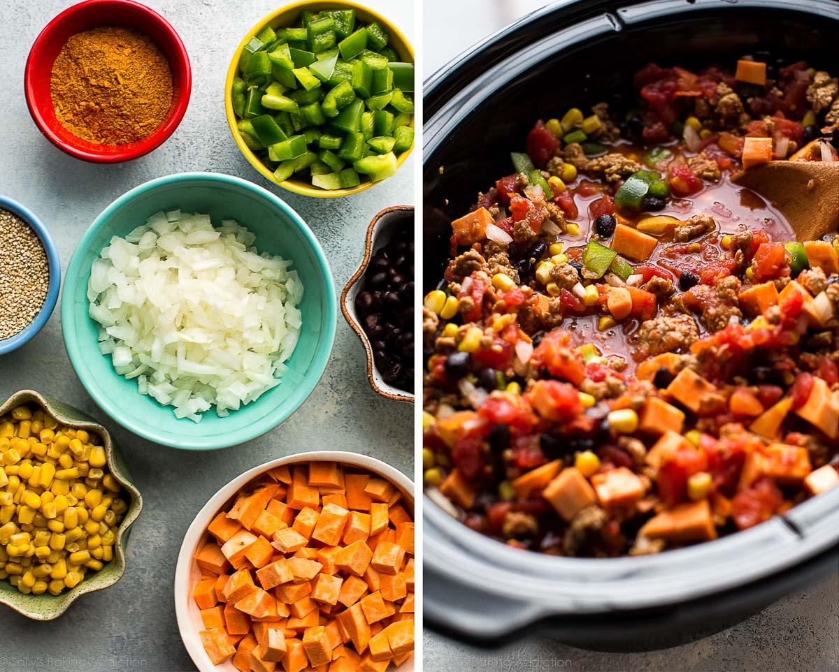 Slow cooker taco spice chili on sallysbakingaddiction.com