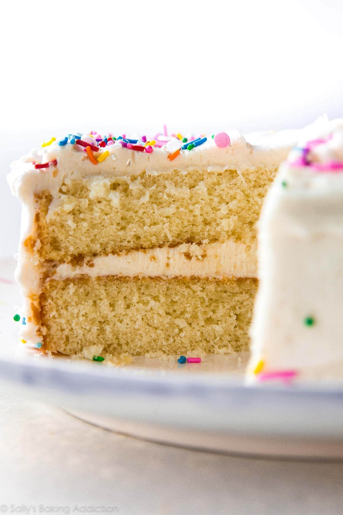 New Favorite White Layer Cake | Sally\'s Baking Addiction