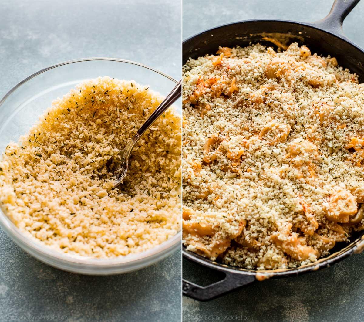 How to make easy baked macaroni and cheese on sallysbakingaddiction.com