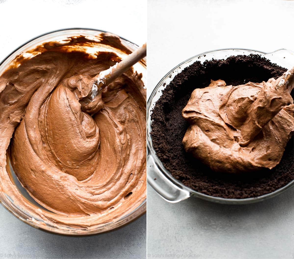 How to make sky-high chocolate pie on sallysbakingaddiction.com