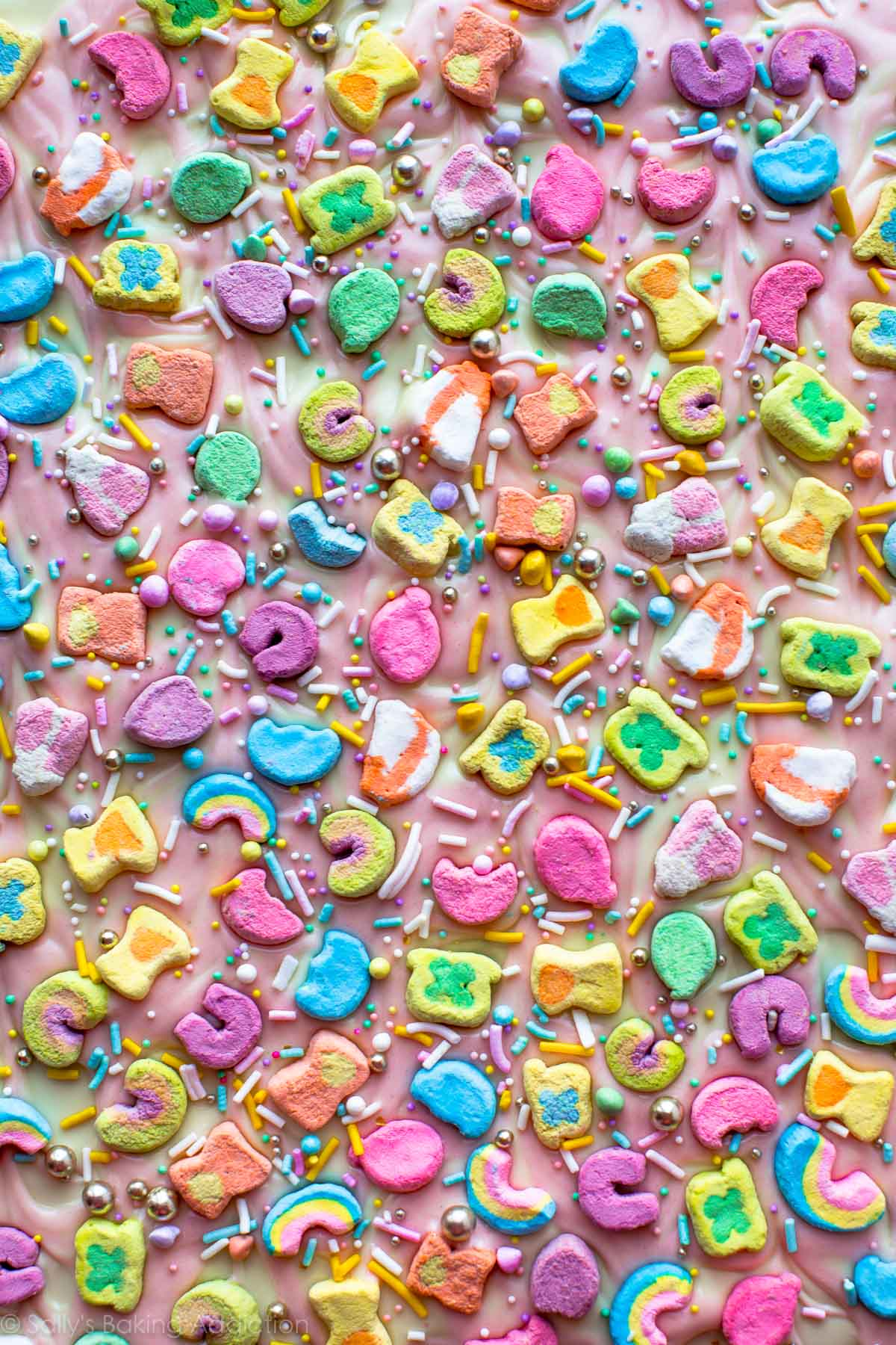 3 Ingredient Lucky Charms Bark Sallys Baking Addiction