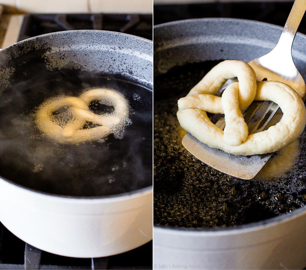 How to make homemade soft pretzels on sallysbakingaddiction.com