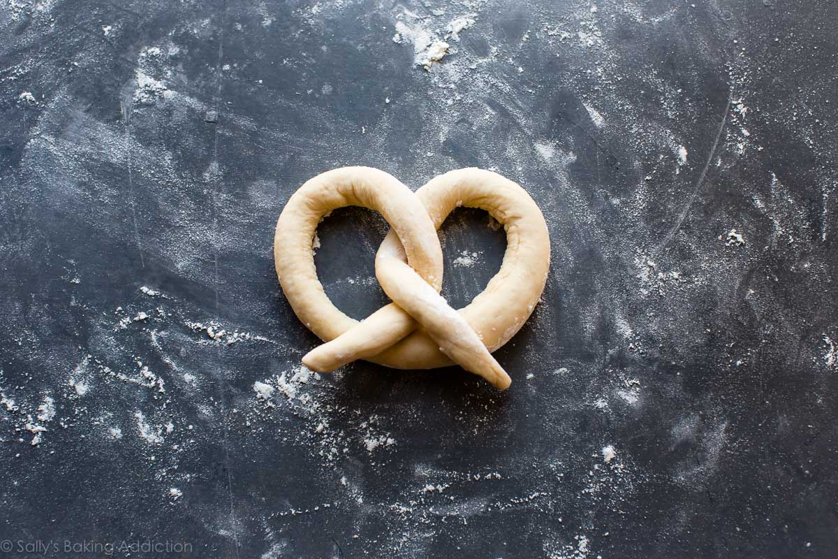 How to make homemade soft pretzels on sallysbakingaddiction.com