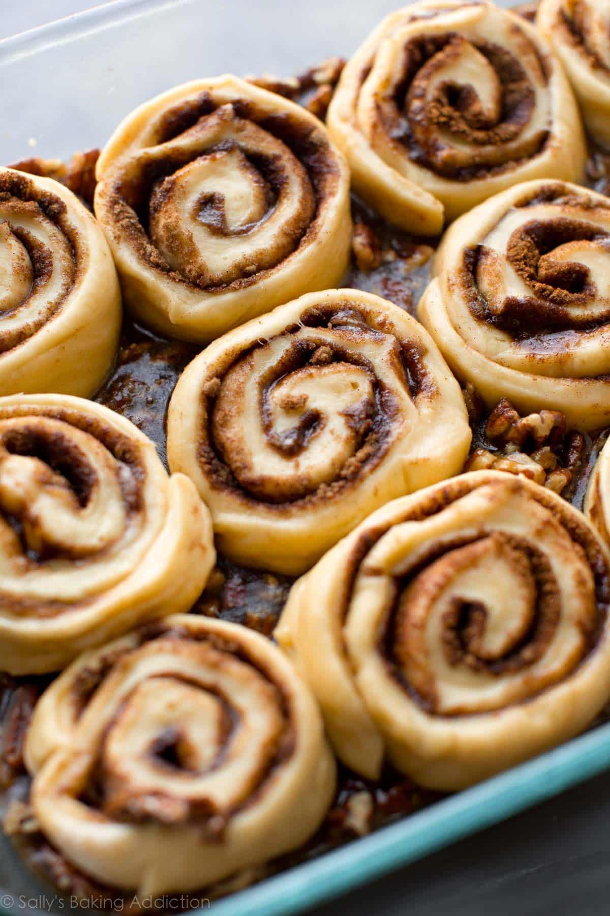 How to make maple pecan sticky buns on sallysbakingaddiction.com