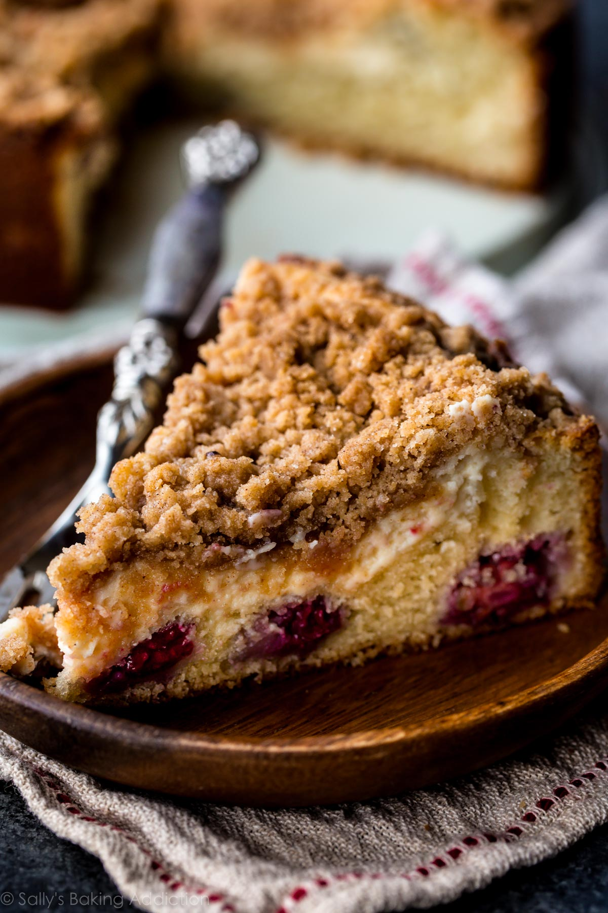 Blackberry Cream Cheese Crumb Cake