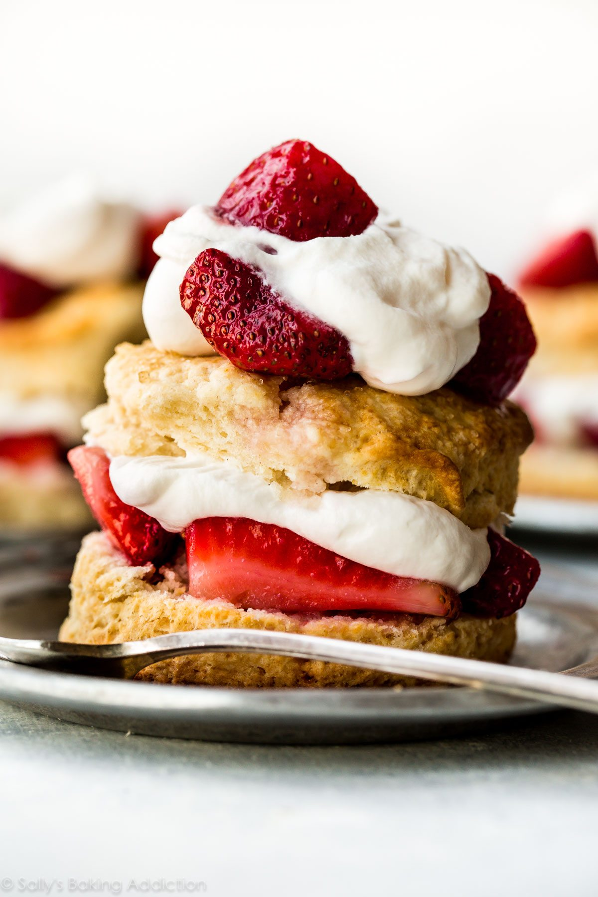 How To Make Strawberry Shortcake At Home Sweet Easy Biscuits And Whipped Cream From Scratch