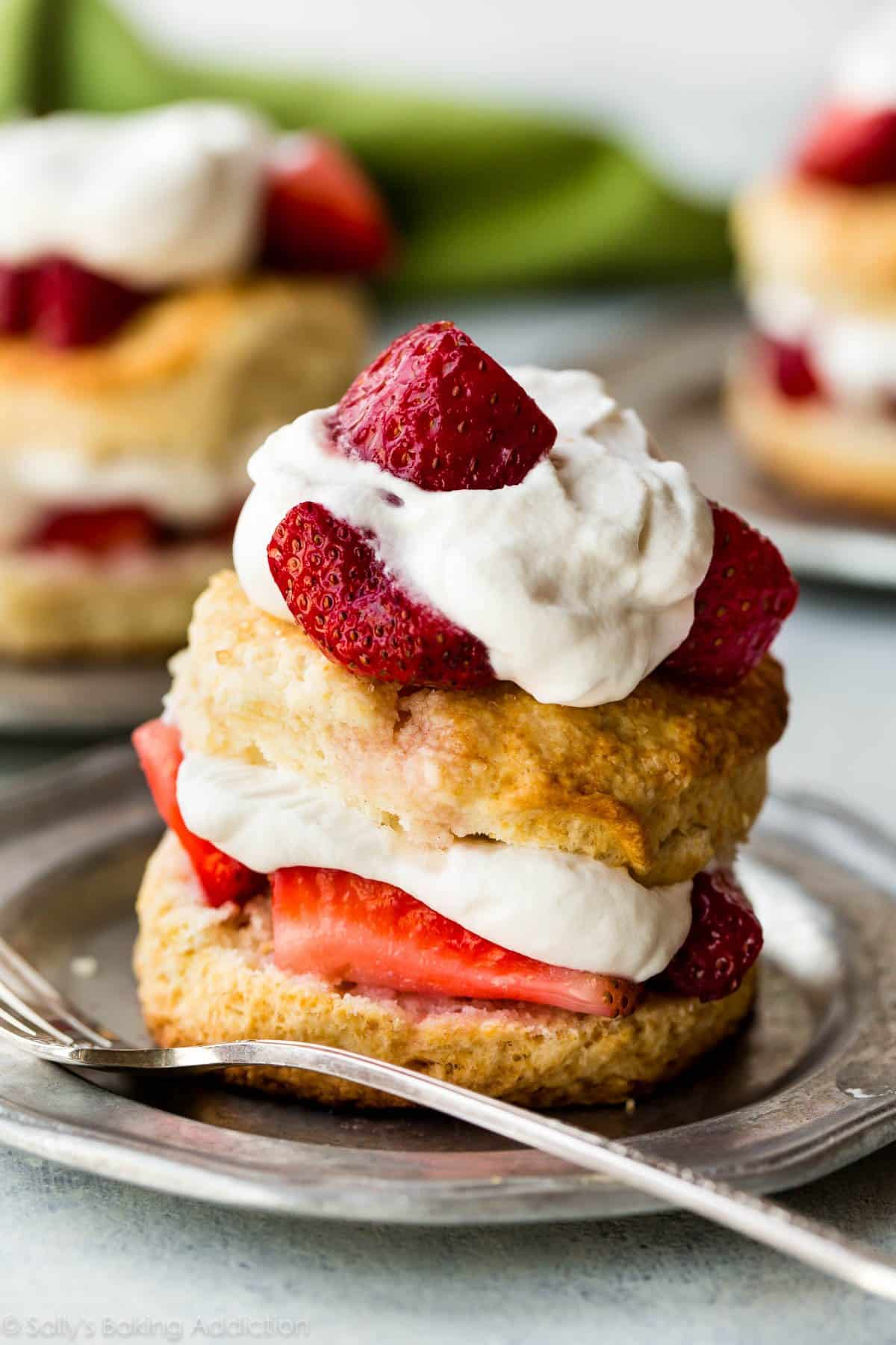 Homemade Strawberry Cake With Buttermilk