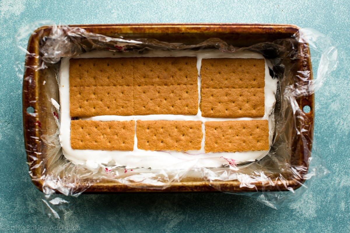 Blueberry lemon icebox cake on sallysbakingaddiction.com