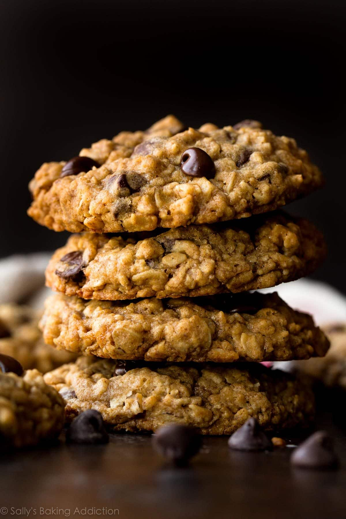 Soft & Chewy Oatmeal Chocolate Chip Cookies - Sallys Baking Addiction