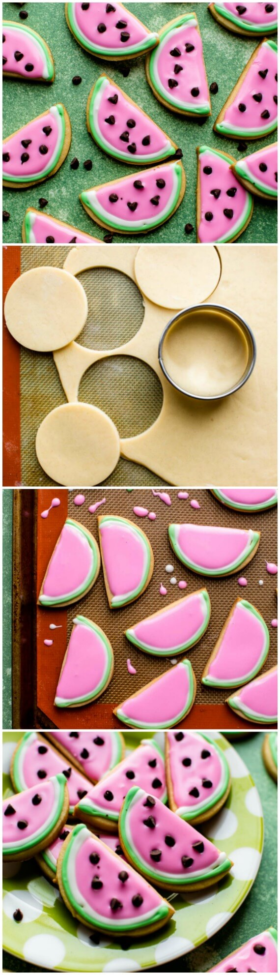 How to make summertime watermelon sugar cookies with this SOFT sugar cookie and easy royal icing recipe! sallysbakingaddiction.com