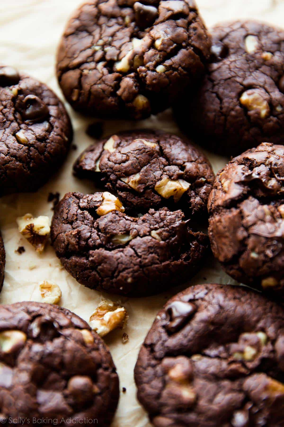 Brownie Walnut Chunk Cookies - Sallys Baking Addiction