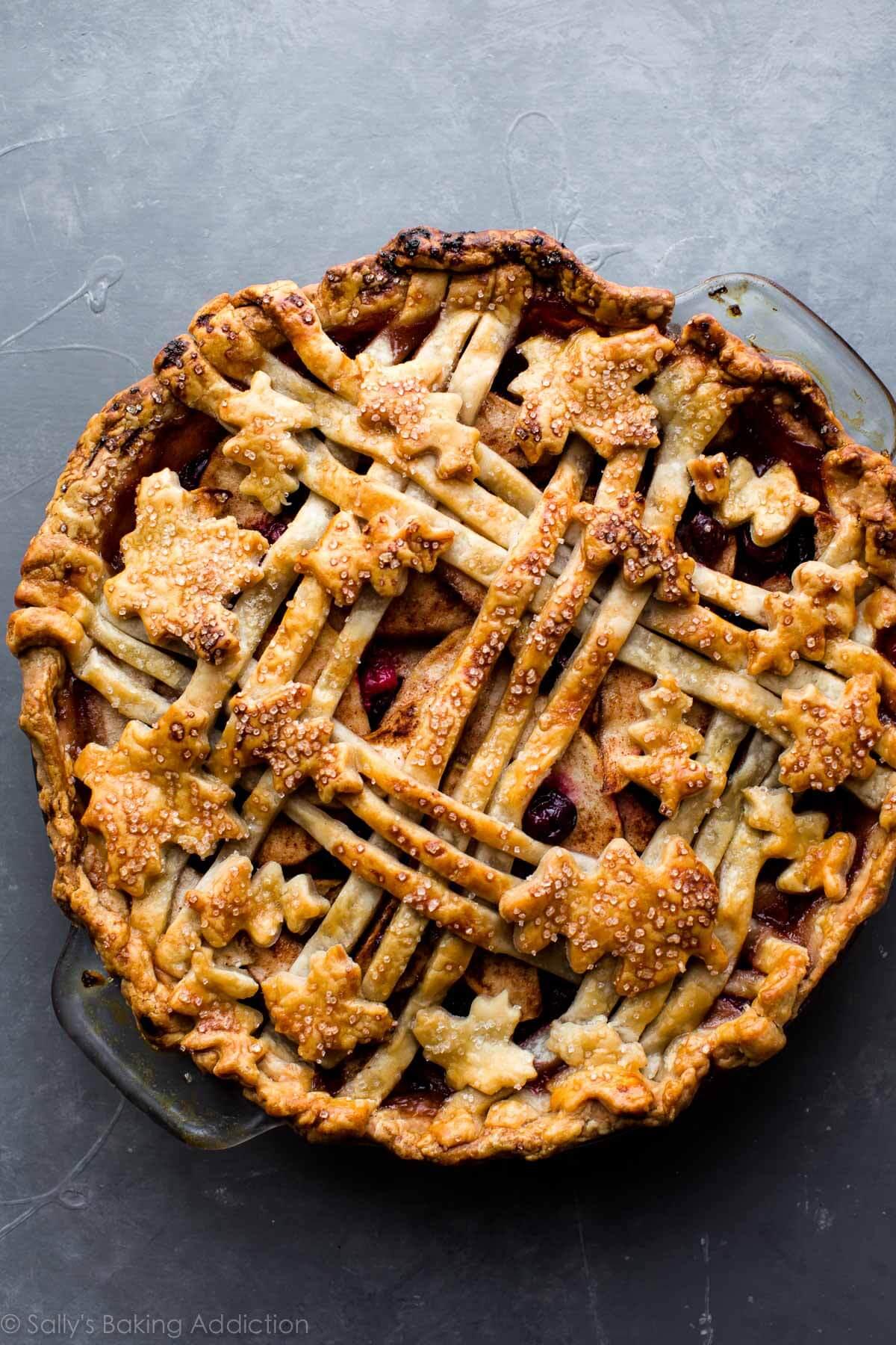 Cranberry Almond Apple Pie - Sallys Baking Addiction