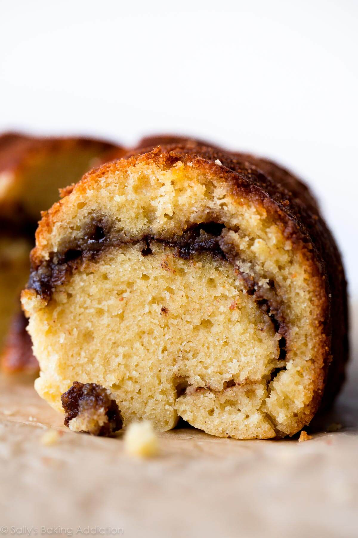 Deliciously moist, soft, and buttery chai spice cinnamon bundt cake! Recipe on sallysbakingaddiction.com