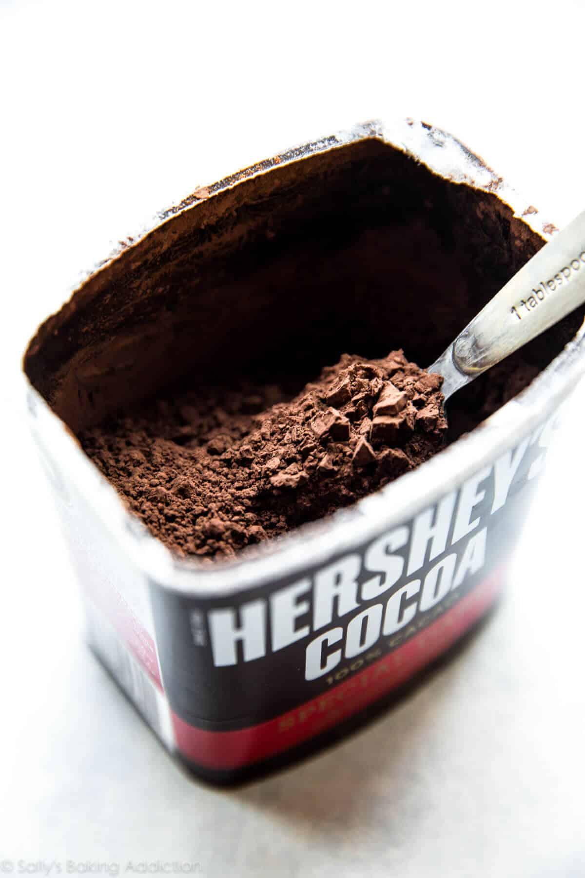 Hershey's Special Dark Cocoa on sallysbakingaddiction.com