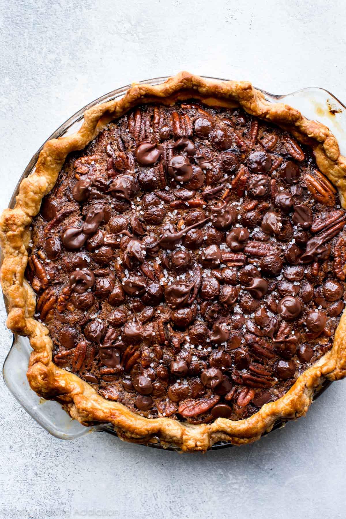 Dark Chocolate Pecan Pie - Sallys Baking Addiction