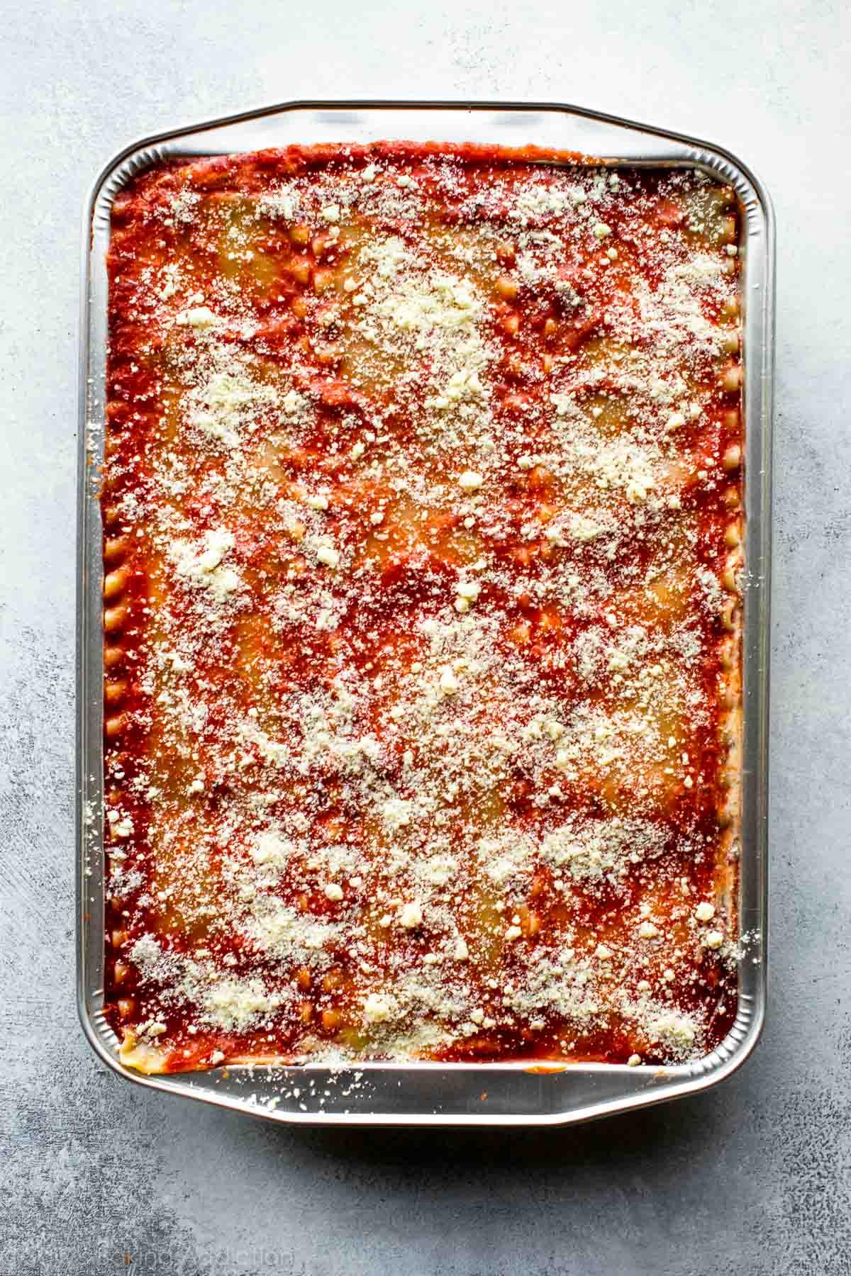 Vegetable lasagna - freezer meals on sallysbakingaddiction.com