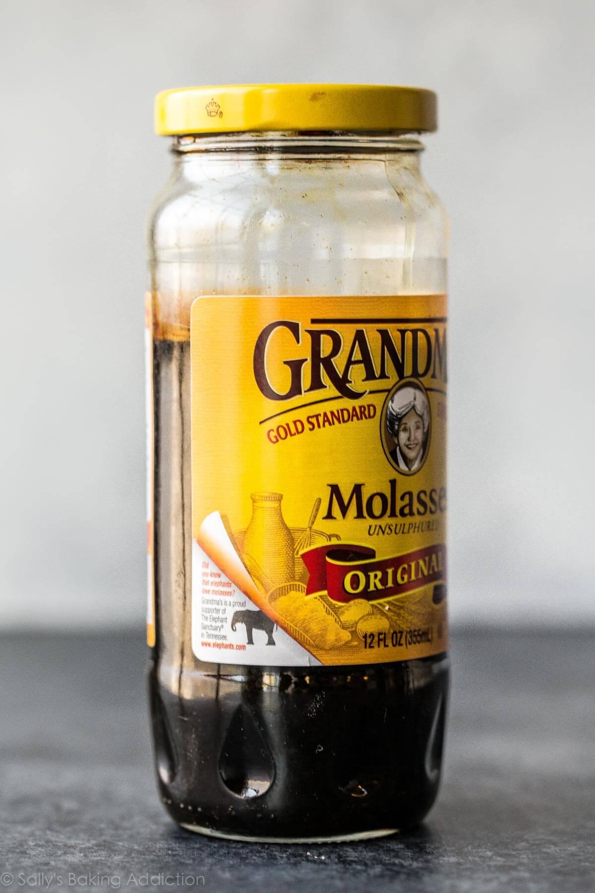 Molasses for soft molasses cookies on sallysbakingaddiction.com