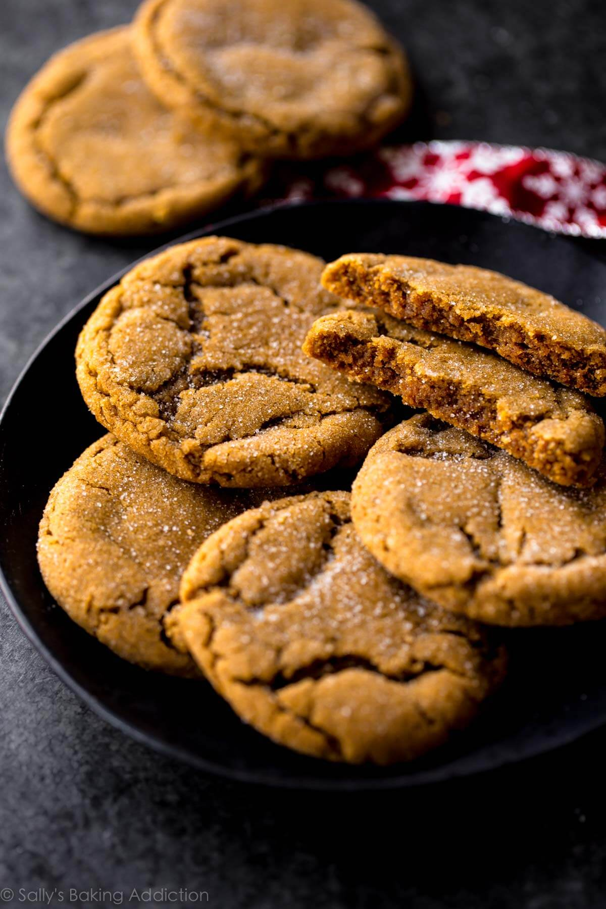Seriously Soft Molasses Cookies Sallys Baking Addiction