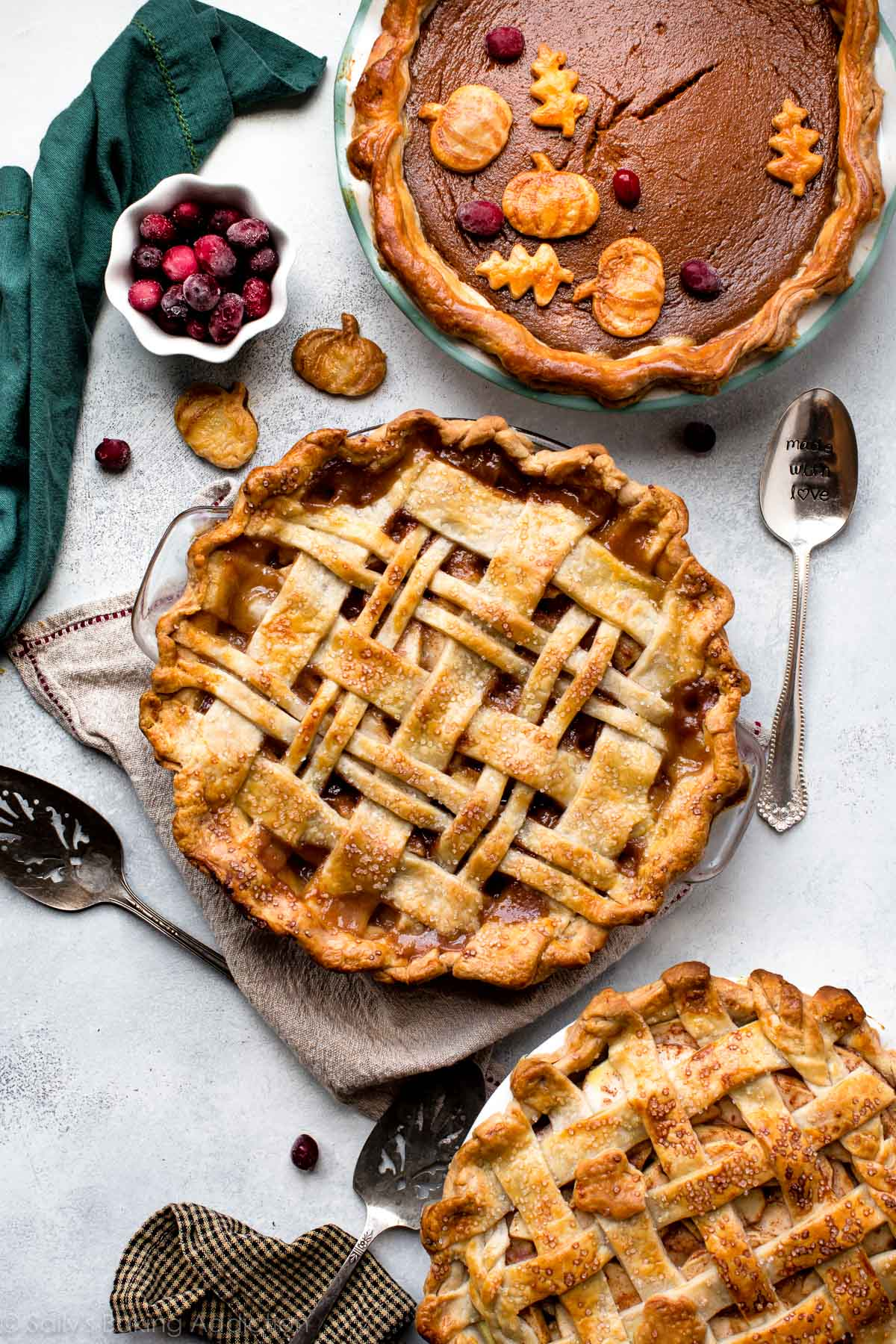 Pies with jam as an ornament of any festive table