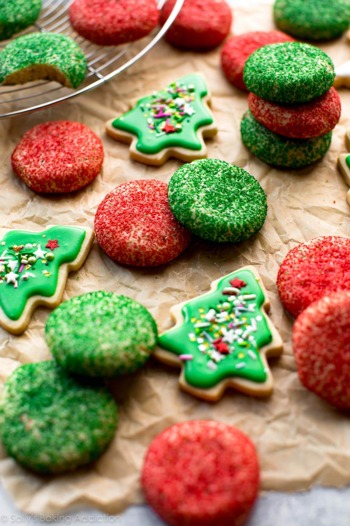 how to make christmas sugar cookies with sprinkles