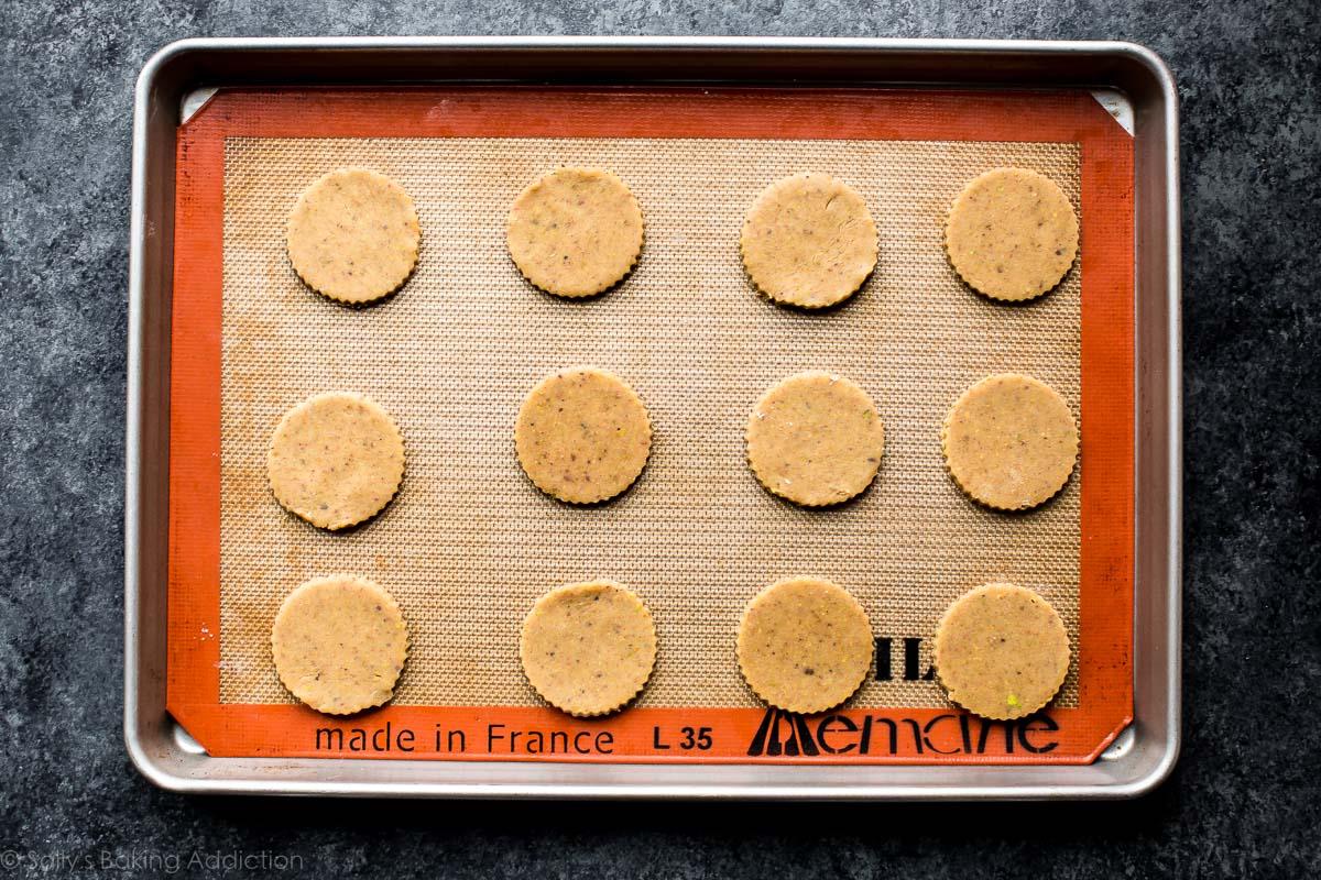 Shaped cookie dough for linzer cookies on sallysbakingaddiction.com