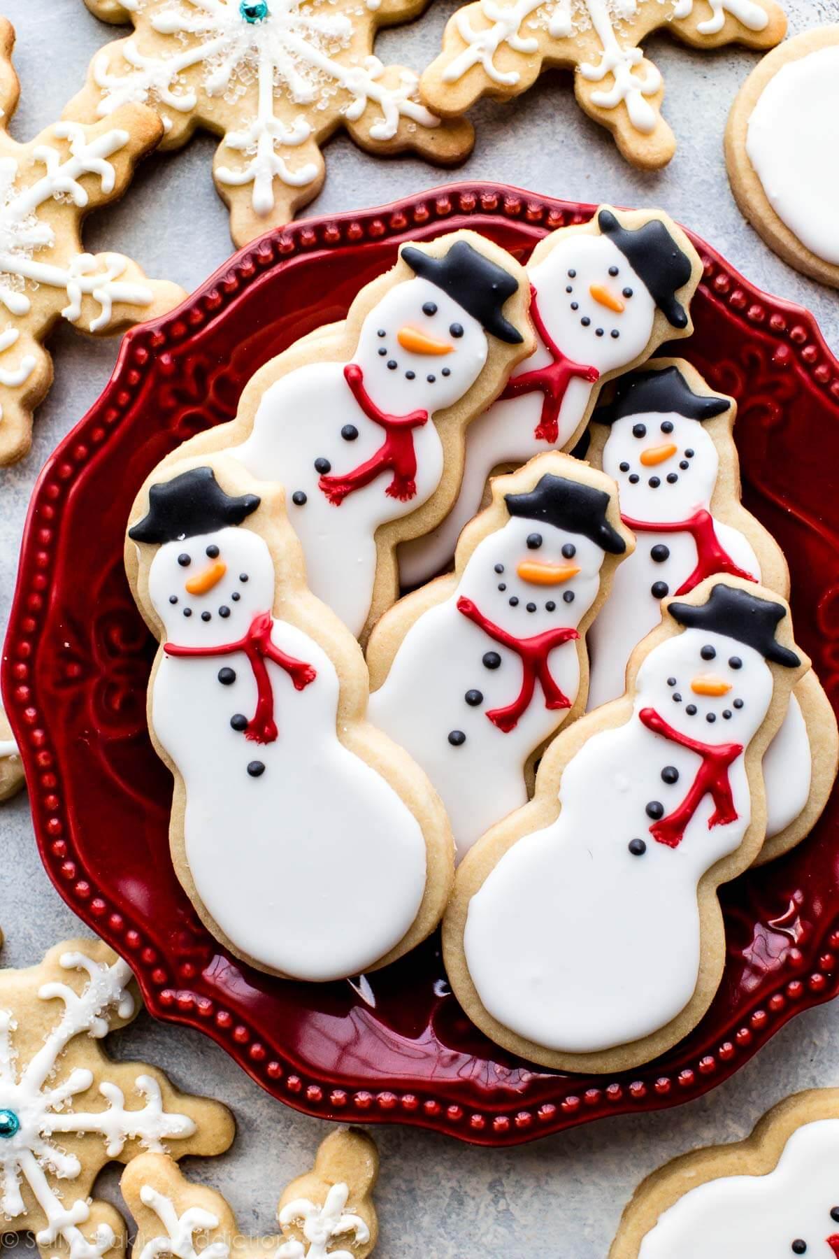 Snowman Sugar Cookies Sally S Baking Addiction