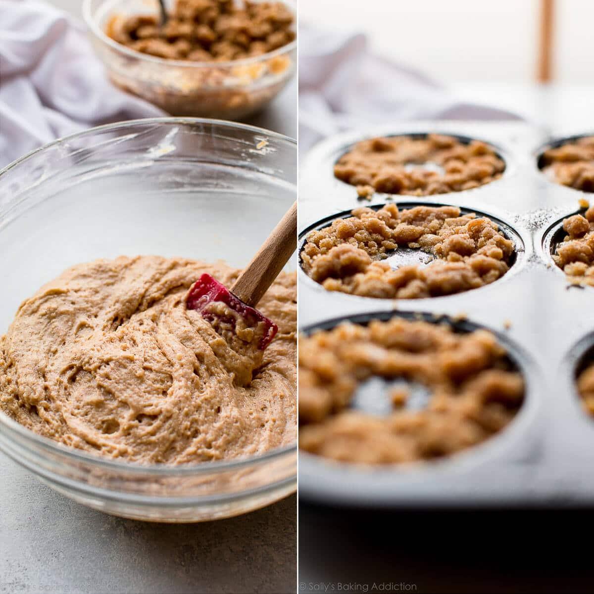 How to make crumb cake donuts on sallysbakingaddiction.com