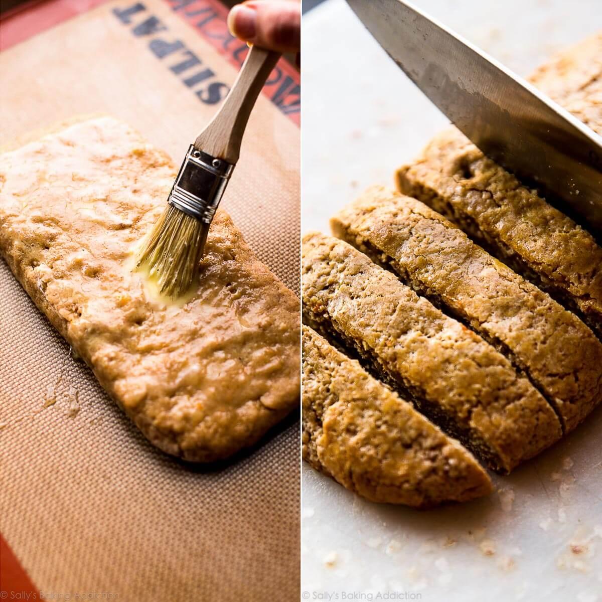 How to make dark chocolate orange biscotti on sallysbakingaddiction.com