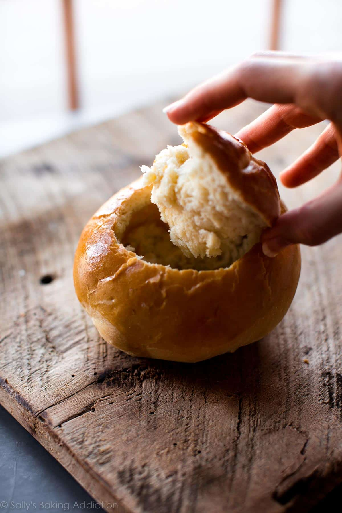 How to make homemade bread bowls on sallysbakingaddiction.com