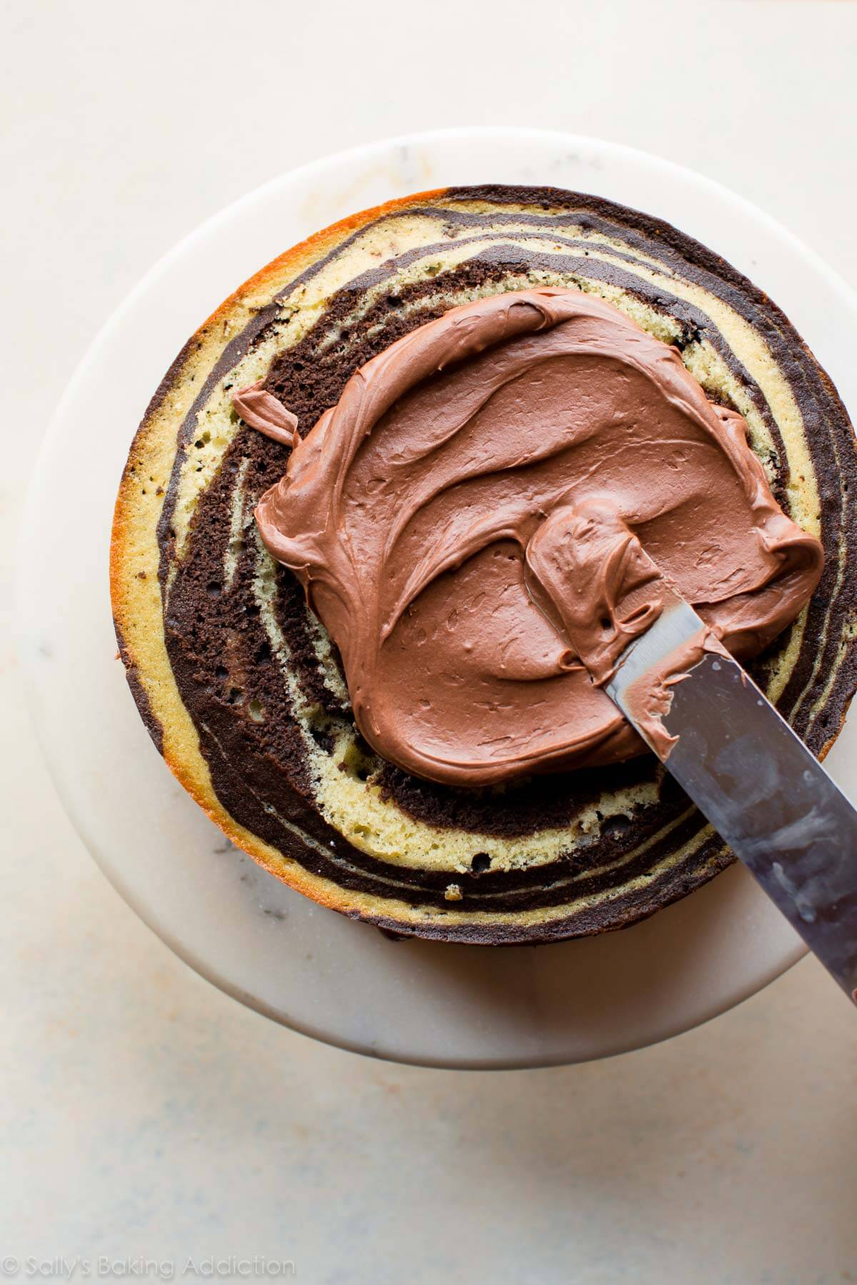 Creamy chocolate cream cheese frosting on sallysbakingaddiction.com