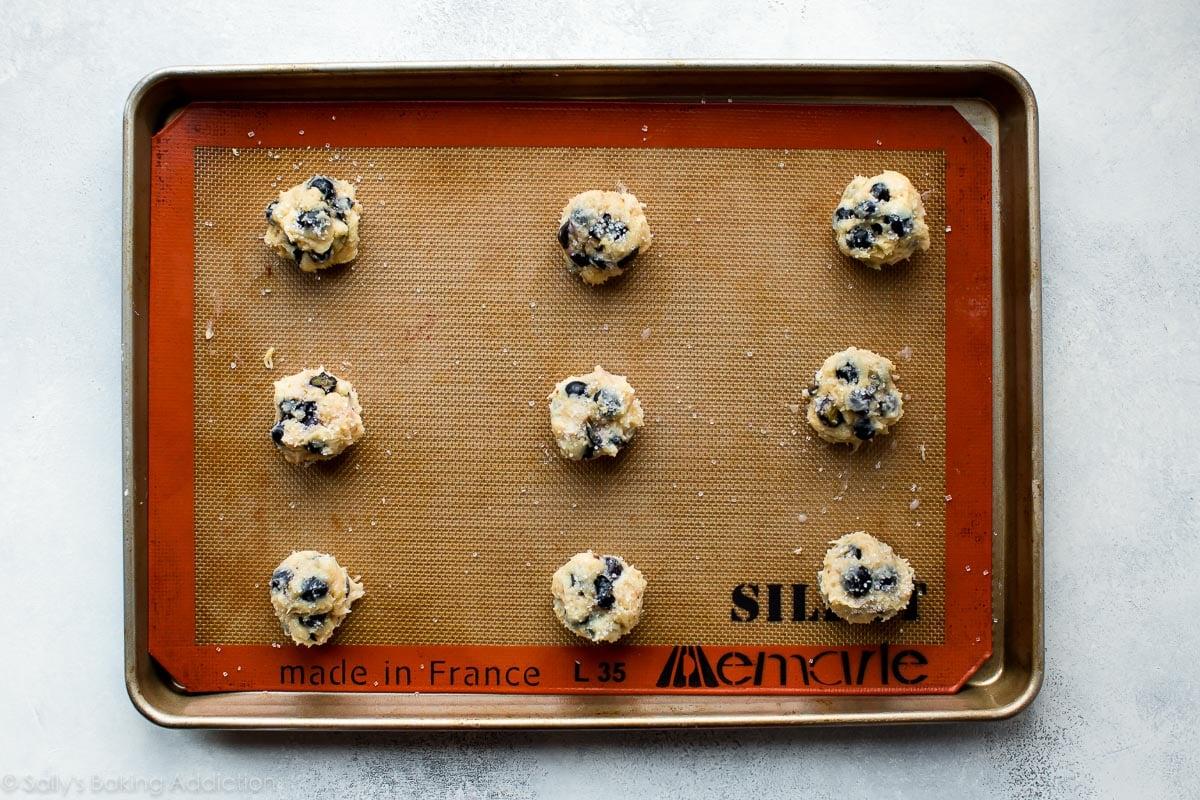 How to make blueberry muffin cookies on sallysbakingaddiction.com
