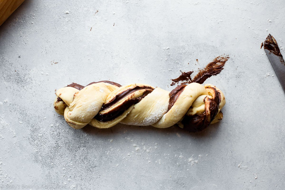 How to shape babka on sallysbakingaddiction.com