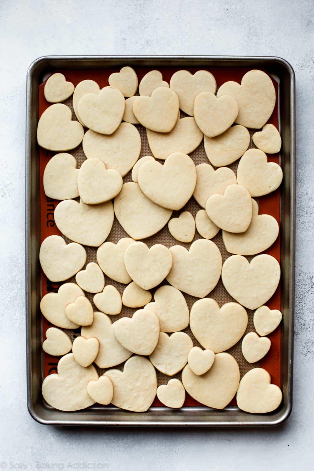 Cream cheese heart sugar cookies on sallysbakingaddiction.com