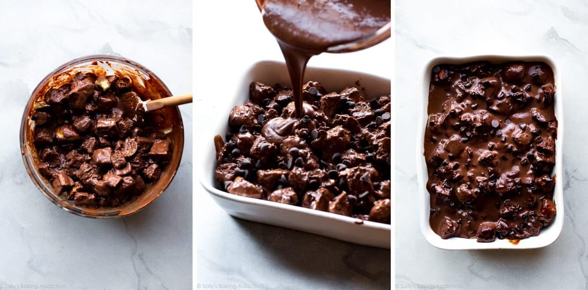 How to make chocolate bread pudding on sallysbakingaddiction.com