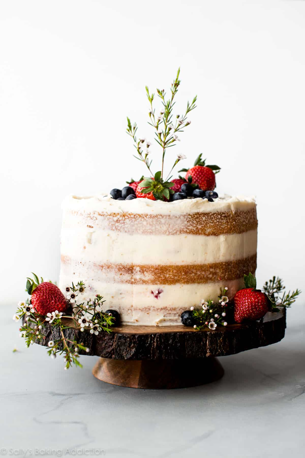 How To Make A Beautiful Naked Cake With Fresh Berries Vanilla And