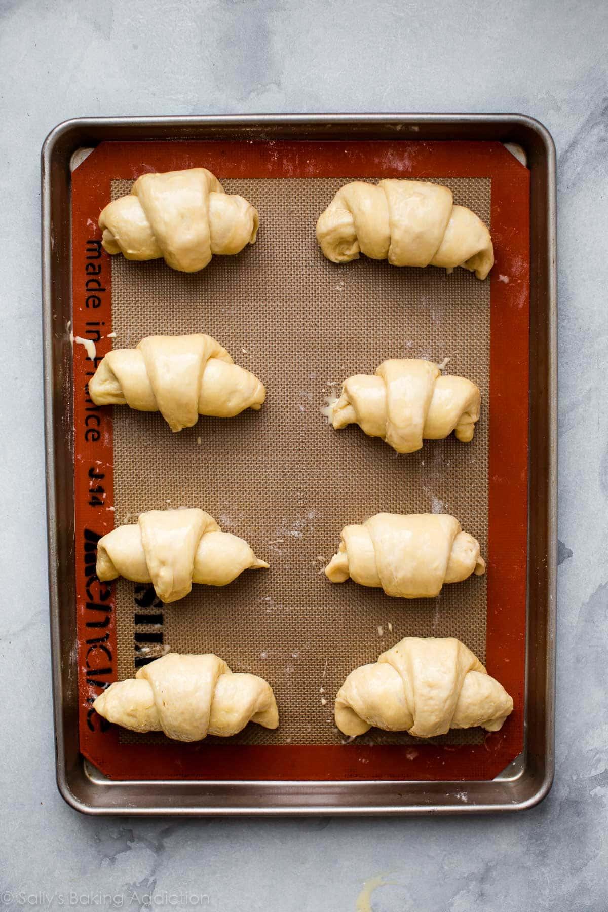How to make homemade croissants on sallysbakingaddiction.com