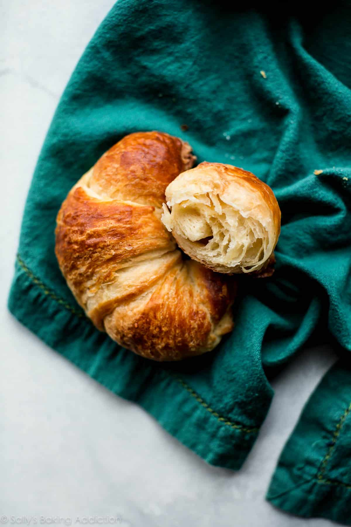 Buttery, flaky, and perfect homemade croissants. Homemade croissant recipe, step pictures, and a how-to video on sallysbakingaddiction.com