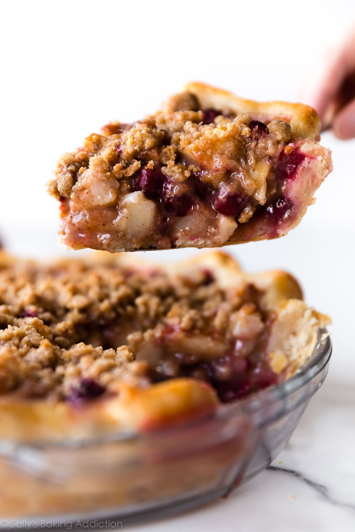 Cranberry Pear Crumble Pie | Sally's Baking Addiction