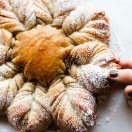 Cinnamon sugar star bread with easy bread dough on sallysbakingaddiction.com