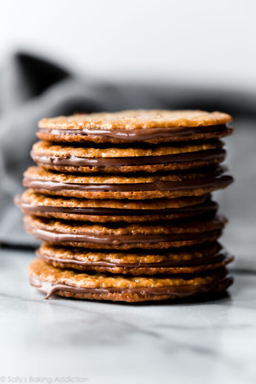 Easy lace cookies with Nutella filling
