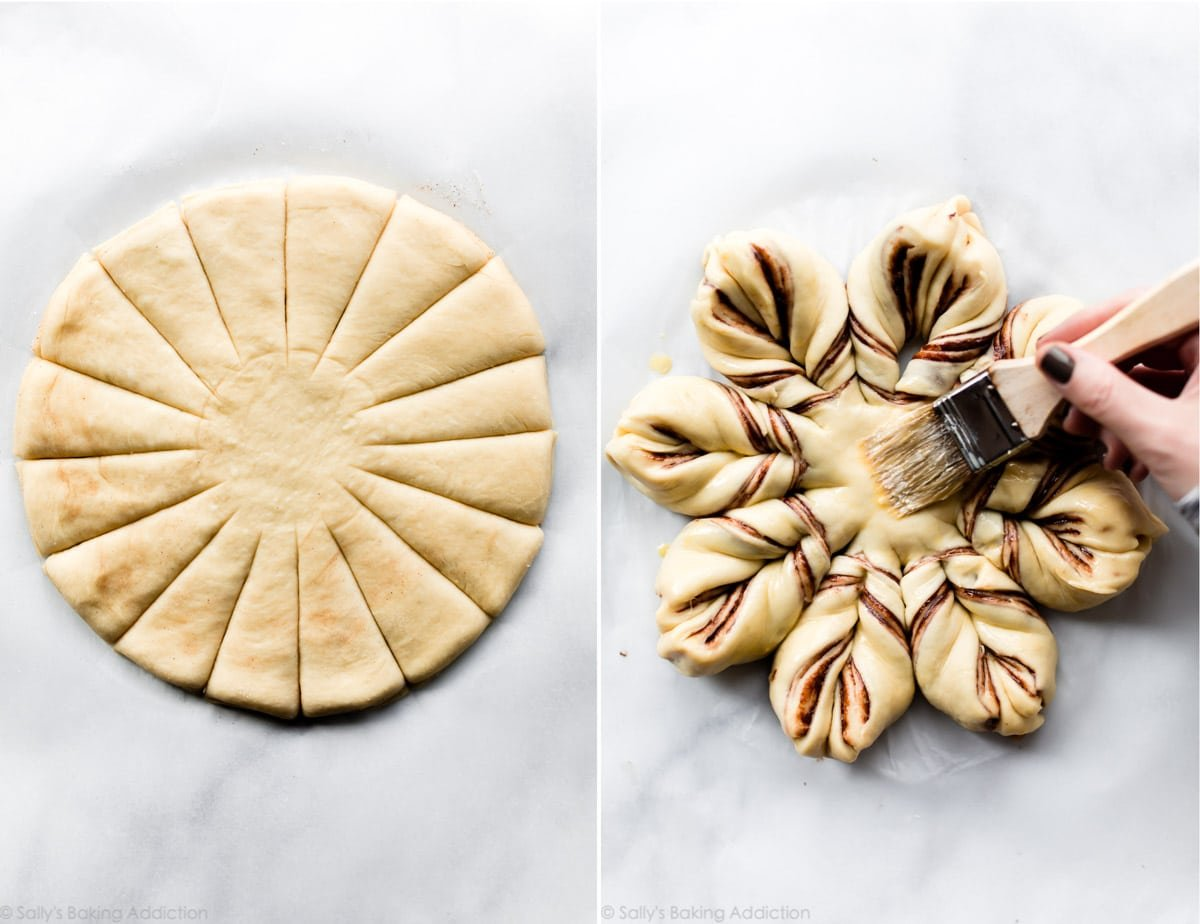 How to assemble star bread