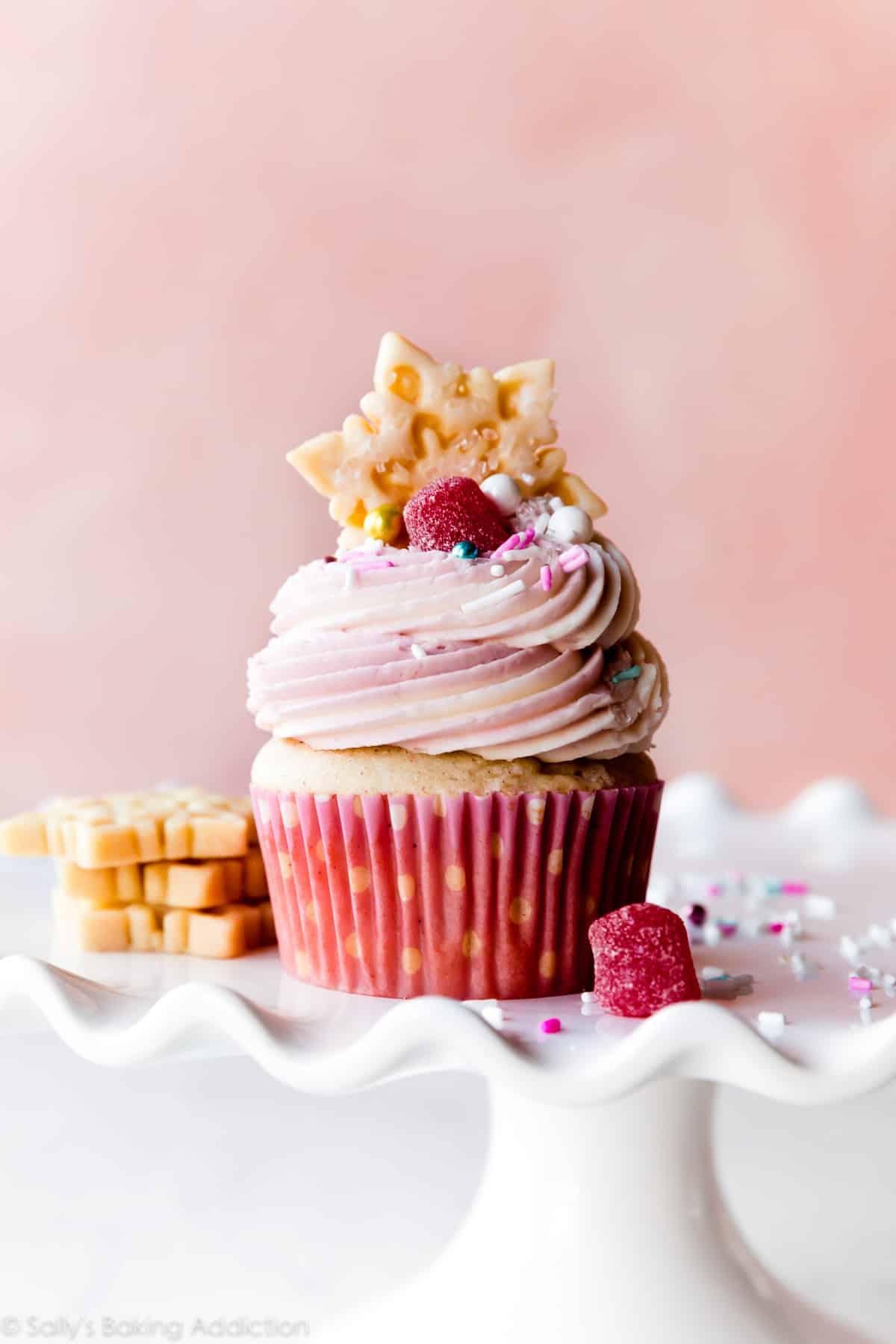 Nutcracker sugar plum fairy cupcakes