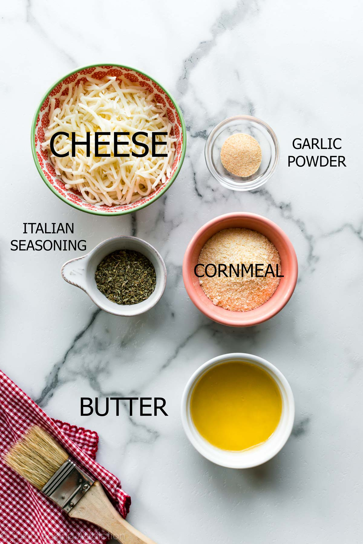 Ingredients in cheesy bread