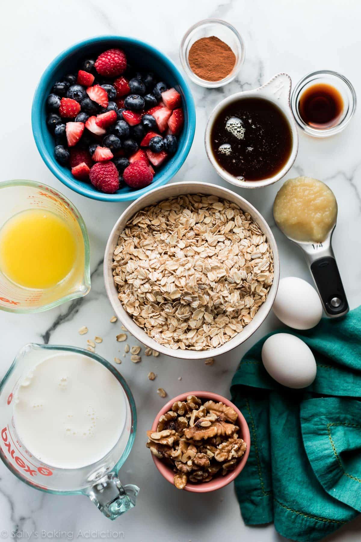ingredients in baked oatmeal