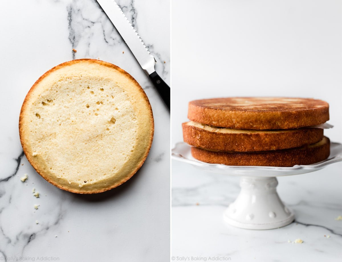 How to level a layer cake