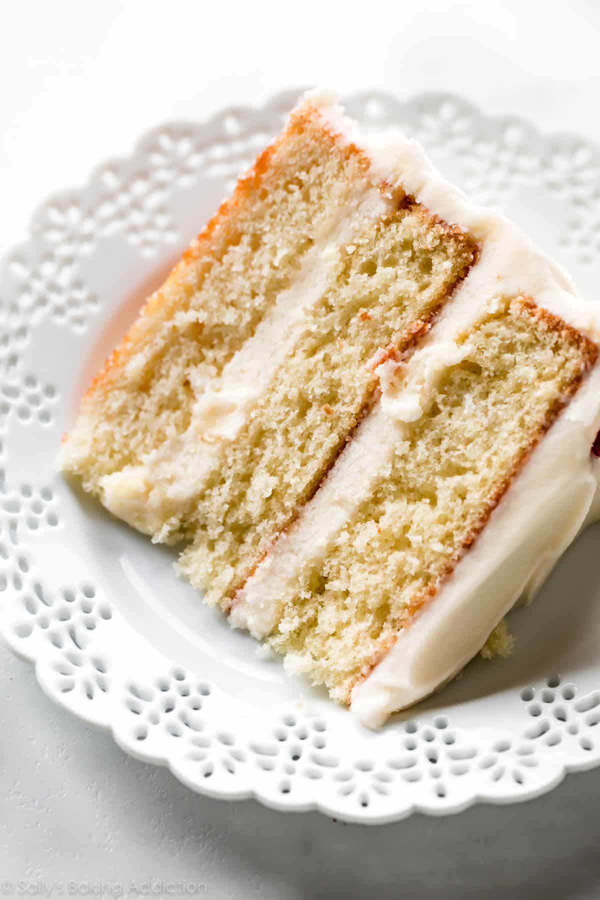 The Best Vanilla Cake I